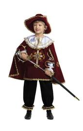 Детский костюм мушкетера бордовый