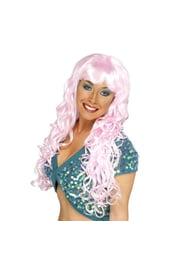 Светло-розовый парик русалки