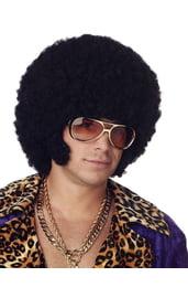 Чёрный афро парик