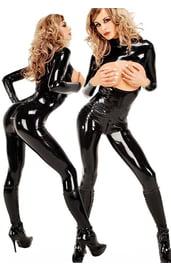Виниловый секси костюм