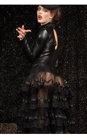 Платье с прозрачной длинной юбкой