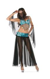 Голубой костюм восточной танцовщицы