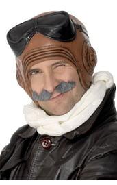 Коричневый лётный шлем