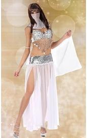 Серебристый костюм восточной танцовщицы