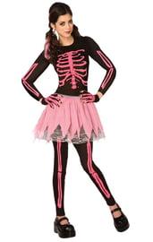 Костюм розового скелета