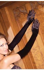 Длинные перчатки из сатина
