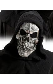 Серая маска Черепа в капюшоне