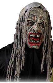 Маска зомби с красными губами