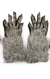 Меховые серые перчатки оборотня
