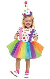 Детский костюм веселой клоунессы