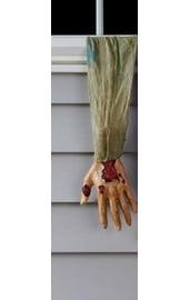Рука зомби в сером рукаве
