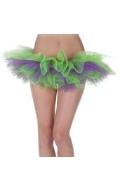 Зелёно-фиолетовая Туту юбка