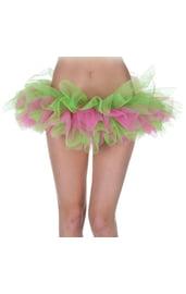 Зелёно-розовая Туту юбка