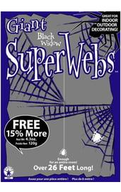 Черная паутина с пауками 120 грамм