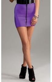 Фиолетовая мини-юбка