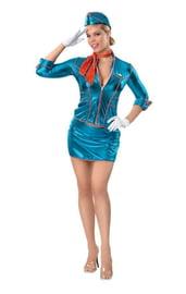 Голубой костюм Бортпроводницы
