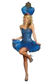 Синий костюм Павлина