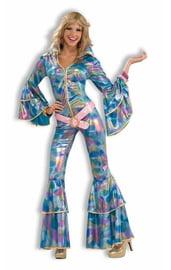 Голубой костюм диско мамы