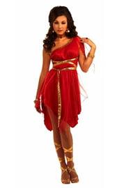 Красный костюм греческой Богини