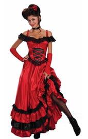 Красно-черный костюм танцовщицы