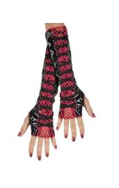 Взрослые перчатки со шнуровкой