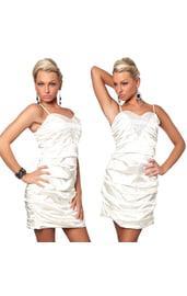 Атласное вечернее платье