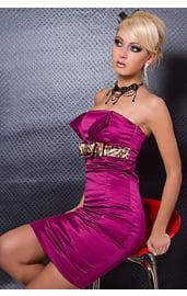 Облегающее платье цвета Фуксии