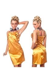 Золотое платье с розочками