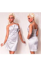 Серебряное платье-карандаш