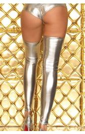 Серебряные длинные гетры