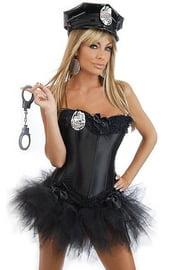 Корсетный костюм секси копа