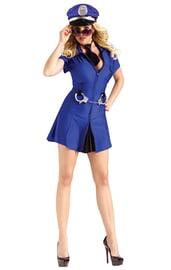 Синий костюм полицейской