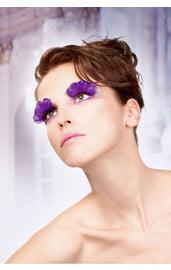 Ресницы фиолетовые перья