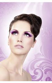 Ресницы фиолетовые с серебром