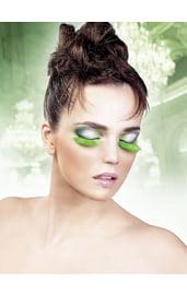 Ресницы зеленые перьевые