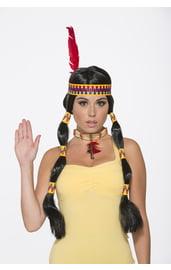 Парик индейцев черный