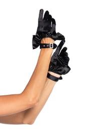 Атласные короткие перчатки