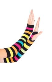 Радужные перчатки без пальцев