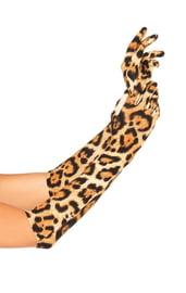 Леопардовые перчатки до локтя