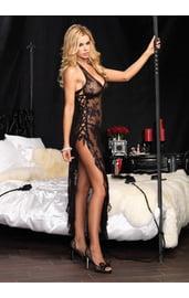 Длинное ночное платье