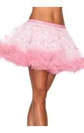Пышная нежно-розовая юбочка