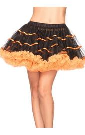 Черно-оранжевая юбочка