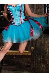 Голубая многослойная юбка