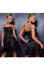 Платье с бантиком черное
