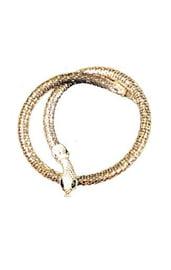 Серебристое ожерелье-змея