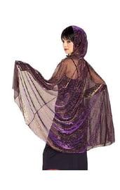 Черно-фиолетовая накидка