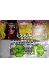 Хипповые очки зеленые
