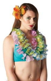 Зеленые гавайские цветочные бусы