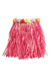 Гавайская розовая юбка