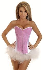 Корсет с юбкой - розовый бурлеск